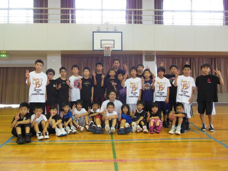 バスケットボールクリニックat 志免南小学校